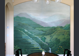 This 10' x 10' mural depicts the famous Philippine Rice Terraces.